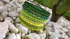 Zelenka šperk šperky náramek rokajl náramky perle soupravy paměťový náramek