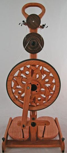 Celtic Flower Travel Spinning Wheel.  You will be mine, oh yes, you will.