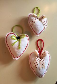 A personal favourite from my Etsy shop https://www.etsy.com/uk/listing/255034696/set-of-3-padded-heart-christmas