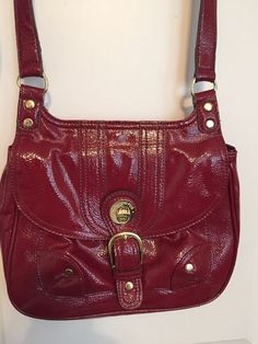 London Fog Red Cross Body Shoulder Bag #LondonFog #Crossbody