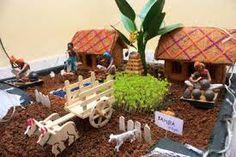 Agriculture based theme for golu in Gauri Decoration, Thali Decoration Ideas, Ganpati Decoration At Home, Kalash Decoration, Decor Ideas, Pongal Celebration, Ganesh Chaturthi Decoration, Janmashtami Decoration, Art For Kids
