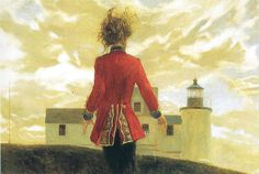 Lighthouse, by Jamie Wyeth, 1993; My interpretation, http://librarianforlifestyle.wordpress.com/2013/07/15/lighting-the-way/
