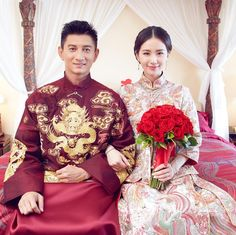 Nicky Wu And Liu Shishi Looked Adorable Yet Regal At The Same Time In Their Elaborate Traditional Chinese Wedding Costumes