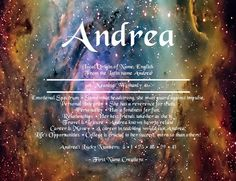 Andrea Name Meaning - First Name Creations