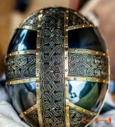 Recreation of Vendel XIV helm by associate craftsman Grzegorz Kulig with thanks to member Dieter Huggins.