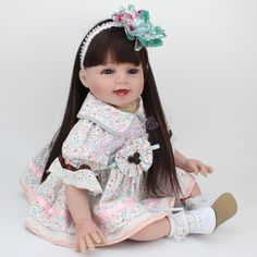 16 Inch Lifelike Reborn Dolls Handmade Newborn Vinyl Silicone Baby Girl Doll for sale online Baby Dolls For Kids, Reborn Baby Boy Dolls, Newborn Baby Dolls, Baby Girl Dolls, Child Doll, Girl Doll Clothes, Kids Dolls, Baby Daddy Show, American Girl Baby Doll