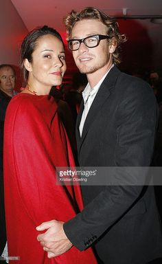 Actors Rebecca Rigg and Simon Baker pose during the after party for the 2005 Lexus Inside Film Awards at Luna Park on November 23, 2005 in Sydney, Australia.