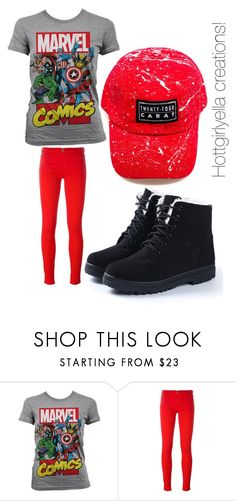 """""""The spider!"""" by hottgirlyella ❤ liked on Polyvore featuring Marvel Comics and Love Moschino"""