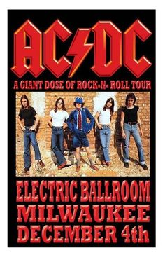 AC/DC Concert Poster https://www.facebook.com/FromTheWaybackMachine
