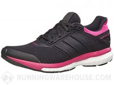 adidas Supernova Glide 8 Women's Shoes Black/Black/Pink
