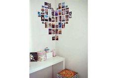 10 ideas para decorar con fotos  Para un cuarto adolescente se puede armar un corazón cuidando la disposición de las imágenes Foto:Vivircreativamente.com