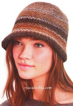 Шляпка-клош (вязание спицами)