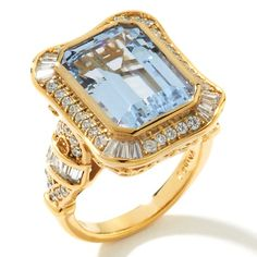 Victoria Wieck 8.21ct Absolute™ Aquamarine Frame Ring