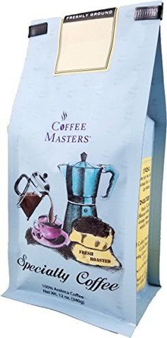 Coffee Masters Flavored Coffee Tofee Crunch Whole Bean 12Ounce Bags Pack of 4 -- Click image for more details.