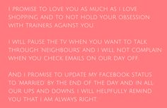 Romantic and Fun   Traditional wedding vows, Wedding vows and ...