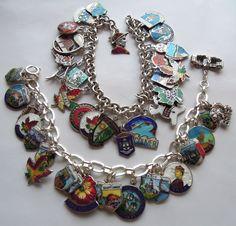 eCharmony Charm Bracelet Collection - Banff & Canada Enamel Charms