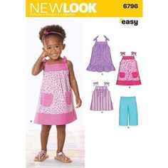 New Look 6796 Girl's Coordinates  6 Months - 4 Years