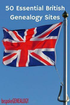 50 Essential British Genealogy Sites | English and Welsh Genealogy Research | Family History | Bespoke Genealogy #genealogy