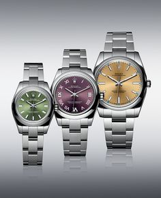 The Rolex Oyster Perpetual models offer a range of colours and sizes from 26 to 39 mm, catering for a variety of tastes and wrists.