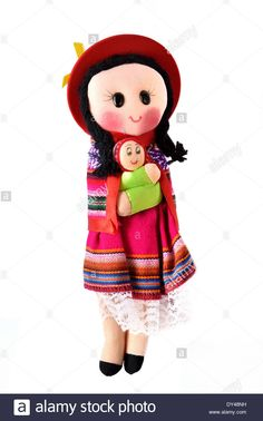 Indian (mapuche) Doll Chile Whit Baby