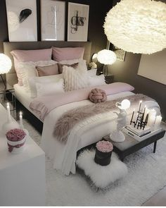 dream rooms for adults ; dream rooms for women ; dream rooms for couples ; dream rooms for adults bedrooms ; dream rooms for girls teenagers Cozy Bedroom, Bedroom Inspo, Bedroom Inspiration, Bedroom Size, Bedroom Setup, Bedroom Apartment, Apartment Interior, Apartment Ideas, Bedroom Decor Glam