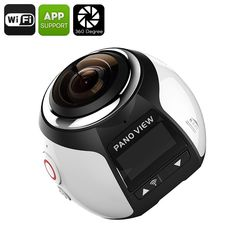 The 360 degree Wi-Fi action camera lets you take amazing panoramic shots and videos Great quality pictures thanks to inch CMOS sensor and stunning full HD videos Share photos and videos instantly with Wi-Fi support Wi Fi, Panorama Camera, Ios, Best Online Clothing Stores, Silver Highlights, Android, Sports Camera, Cmos Sensor, Video Camera