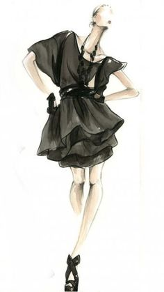 Myrtle Quillamor #FASHION #Sketch #Black