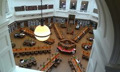 Inside the State Library of Victoria.
