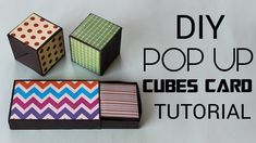 Pop up Cubes Card Box Cards Tutorial, Card Tutorials, Paper Cards, Diy Cards, Pop Cubes, Birthday Card Pop Up, Pop Up Invitation, Exploding Box Card, Pop Box