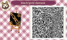 Damask Wall QR Code - spread in room + hang on wall + rotated