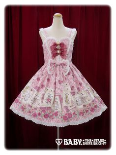 Baby, the stars shine bright Wonder story comes in the rose blooming night Heart jumper skirt