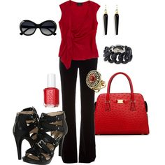 """Red-y"" by alison-louis-ellis on Polyvore"