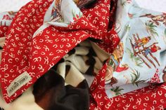 WESTERN COWBOY Kids Blanket Barn Dandys Horseshoe. $49.00, via Etsy.