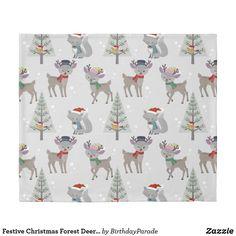 Festive Christmas Forest Deer Design Duvet Cover Christmas Gift Wrapping, Christmas Gifts, Christmas Decorations, Christmas Bedding, Deer Design, King Size Duvet Covers, Designer Pillow, Winter Christmas, Reindeer