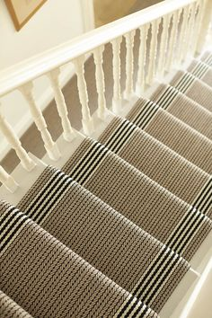 Pretty Painted Stairs Ideas to Inspire your Home stair carpet runner (stairs painted ideas) Tags: carpet stair treads, striped stair carpet, stair carpet ideas stair+carpet+ideas+staircase Staircase Runner, Stair Runners, Carpet Runners For Stairs, Stair Carpet Runner, Carpet On Stairs, Sisal Stair Runner, Basement Carpet, Farmhouse Stairs, Carpet Stair Treads