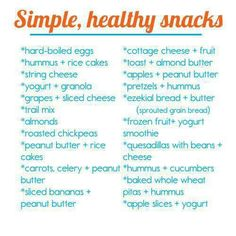 Great and simple ideas for healthy snacks whilst studying. #usq #snackhealthy #studysnacks