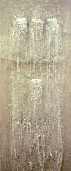 ^Tres+uno by Marga Dirube Creative Textiles, Artistic Installation, Textile Fiber Art, Fabric Manipulation, Fabric Art, Collage Art, Collages, Texture, Mixed Media Art