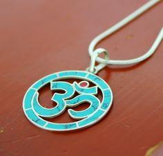 Dharmashop.com - Turquoise OM Pendant, $32.00 (http://www.dharmashop.com/products/Turquoise-OM-Pendant.html)