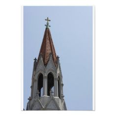 Ornate Steeple Custom Invites