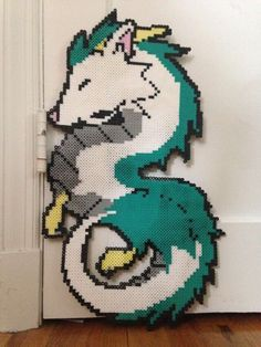 Spirited away dragon perler Hama beads WHAT THATS LIKE...... CUTE