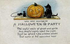 Vintage Halloween Cards | ... Crafts » Blog Archive » Free Vintage Halloween Black Cats Cards