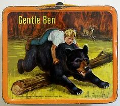 $74.95 Vintage Aladdin Gentle Ben Metal Lunchbox Lunch Box 1968 - this is what my older brother used and passed down to the rest of the siblings.