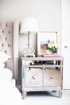 Home Series: Master Bedroom Reveal. Featuring the Borghese Nightstand + Jameson Bed.