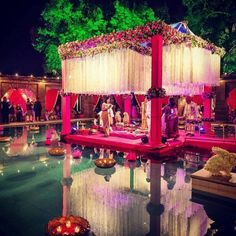 Mandap decoration is the most important element of your Indian wedding decoration and we have shortlisted 20 mandap decoration ideas that you need to consider for your 2018 wedding! Wedding Table Themes, Wedding Hall Decorations, Wedding Ideas, Diy Wedding, Wedding Blog, Decor Wedding, Garden Wedding, Wedding Designs, Wedding Inspiration