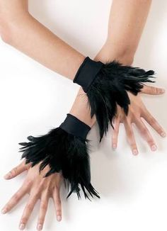 feather wrist cuffs - Google Search                                                                                                                                                                                 More