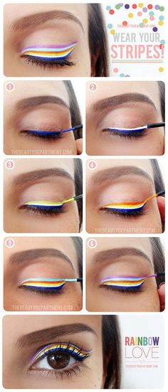 Striping of the eye! Such a cool look!! Eye Makeup Tutorials | Eye Makeup