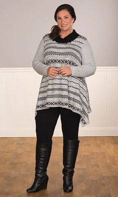 IMMIE SWEATER / Plus Size Fashion for Women / On the Plus Side / Winter Fashion http://www.makingitbig.com/product/immie-sweater