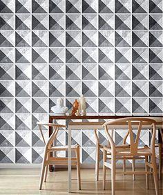 Geometric Stone Stickers for Tiles (Pack with 9) Tile Stickers - Kitchen Backsplash Tiles - Bathroom Tile Decals - SKU:GSDATiles