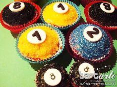 billar mini cupcakes y cupcakes by www.tartarte.com