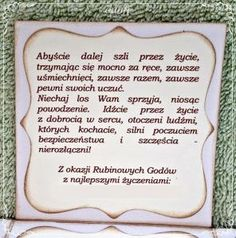 rubinowe gody (3) Motto, Quilling, Diy And Crafts, Happy Birthday, Wedding Inspiration, Scrapbook, Words, Google, Humor